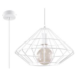 Lampa Wisząca UMBERTO Biała - Sollux