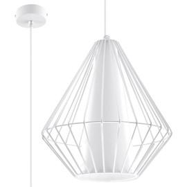 Lampa Wisząca DEMI Biała - Sollux