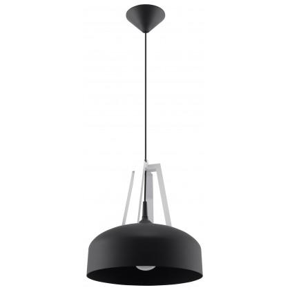 Lampa Wisząca CASCO Czarna/Białe Drewno - Sollux - SL.0389 - tanio - promocja - sklep