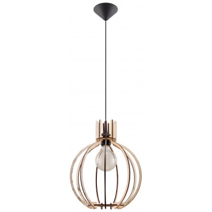 Lampa Wisząca ARANCIA Naturalne Drewno - Sollux - SL.0391 - tanio - promocja - sklep