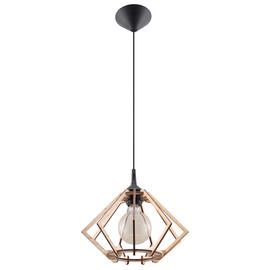 Lampa Wisząca POMPELMO Naturalne Drewno - Sollux