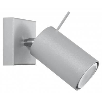 Kinkiet RING 1 Szary - Sollux - SL.0449 - tanio - promocja - sklep