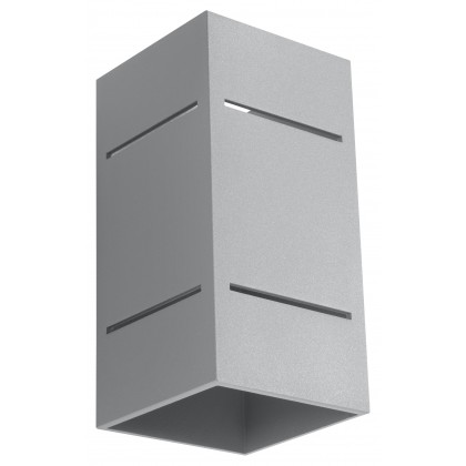 Kinkiet BLOCCO Szary - Sollux - SL.0479 - tanio - promocja - sklep