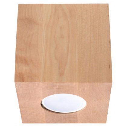 Plafon QUAD Naturalne Drewno - Sollux - SL.0493 - tanio - promocja - sklep