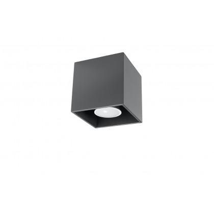 Plafon QUAD 1 Antracyt - Sollux - SL.0567 - tanio - promocja - sklep