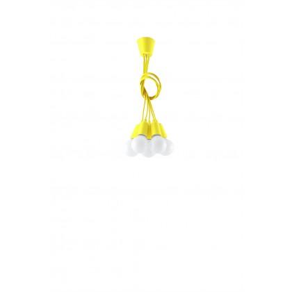 Lampa wisząca DIEGO 5 żółta - Sollux - SL.0580 - tanio - promocja - sklep