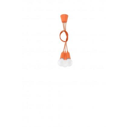 Lampa wisząca DIEGO 3 pomarańczowy - Sollux - SL.0585 - tanio - promocja - sklep