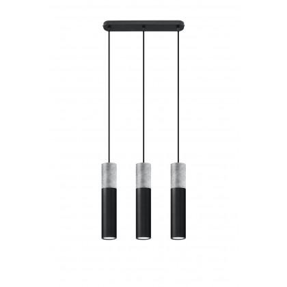 Lampa wisząca BORGIO 3 czarny - Sollux - SL.0652 - tanio - promocja - sklep