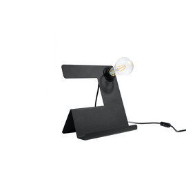 Lampa biurkowa INCLINE czarna - Sollux