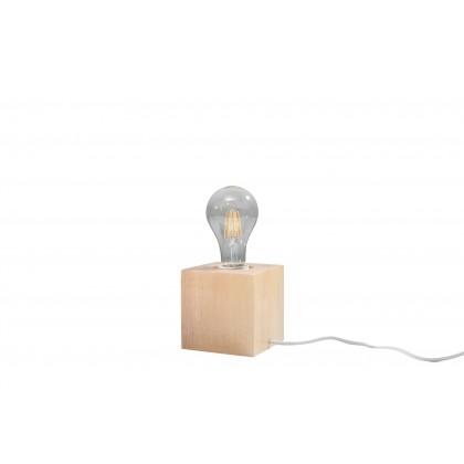 Lampa biurkowa ABEL naturalne drewno - Sollux - SL.0677 - tanio - promocja - sklep