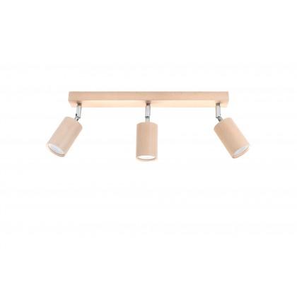 Plafon BERG 3 naturalne drewno - Sollux - SL.0703 - tanio - promocja - sklep