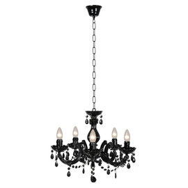 Arabesque pampilles czarny - Lucide - lampa sufitowa