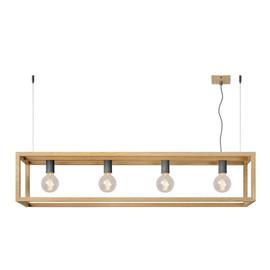 Oris L120 drewno - Lucide - lampa wisząca