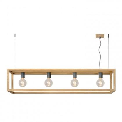 Oris L120 drewno - Lucide - lampa wisząca - 31472/04/72 - tanio - promocja - sklep