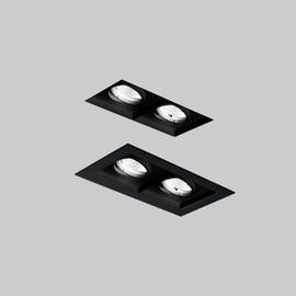 Karo Mini Double czarny - XAL - oprawa wpuszczana