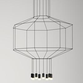 Wireflow 0299 czarny - Vibia - lampa wisząca
