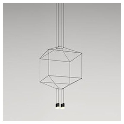 Wireflow 0309 czarny - Vibia - lampa wisząca - 0309 - tanio - promocja - sklep
