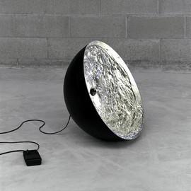 Stchu-moon 01 srebrny - Catellani & Smith - lampa podłogowa