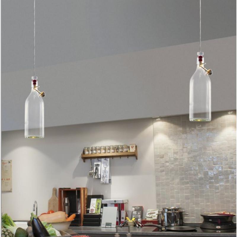 Cork Bottle 1.0 2200K biały - Wever & Ducré - lampa wisząca