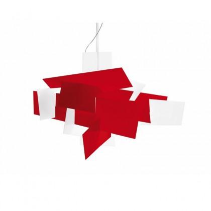 Big Bang XL LED Rosso biały - Foscarini - lampa wisząca - 1510072L63 - tanio - promocja - sklep