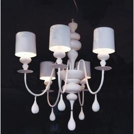 Eva Chandelier biały - Masiero - lampa wisząca