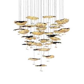 Gold Moon Chandelier 20 lights złoty - Catellani & Smith - lampa wisząca