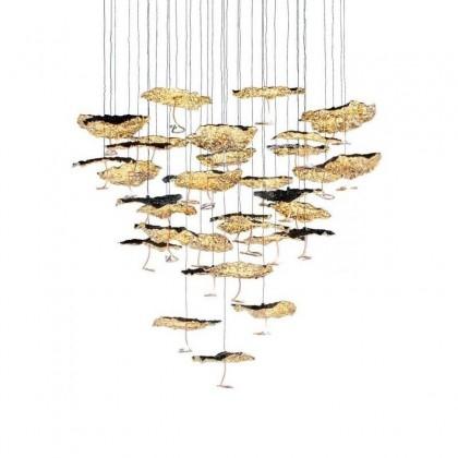 Gold Moon Chandelier 20 lights złoty - Catellani & Smith - lampa wisząca - CGM20CL - tanio - promocja - sklep