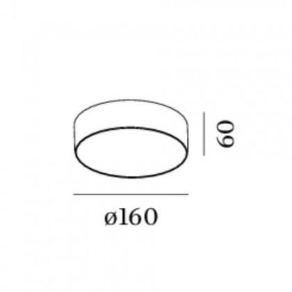 Roby 1.6 LED czarny - Wever & Ducré - plafon - 135184B5 - tanio - promocja - sklep