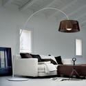 Ribbon TE A brązowy - Morosini - lampa podłogowa