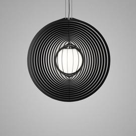 Soiree RC 81 E27 Opal czarny - Delta Light - lampa wisząca