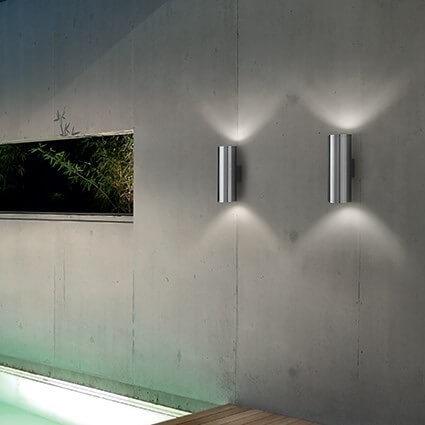 Zewnętrzny kinkiet natynkowy, góra-dół, sredbrny, natynkowy Ideal Lux
