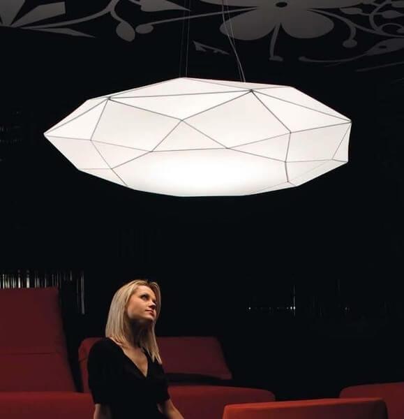 Fajna lampa do salonu - Morosini Diamond - Włochy