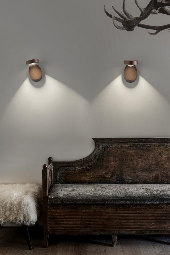 Piękny nowoczesny kinkiet włoski do salonu - Studio Italia Design